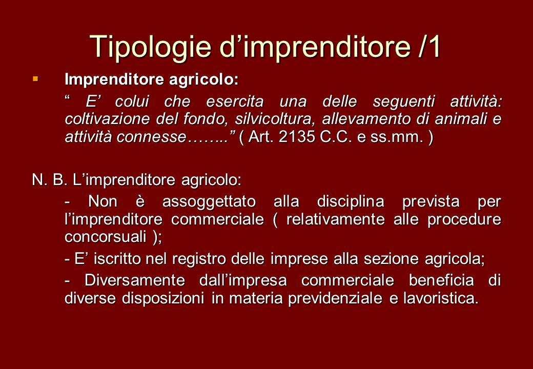 Tipologie d'imprenditore /1