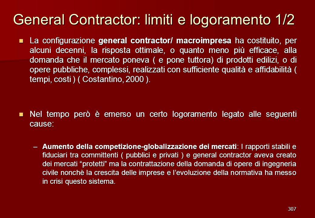 General Contractor: limiti e logoramento 1/2