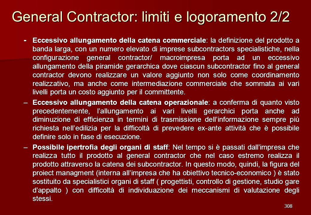 General Contractor: limiti e logoramento 2/2