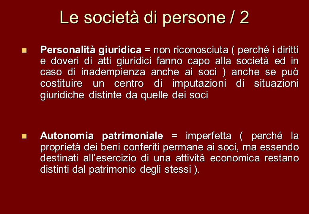 Le società di persone / 2