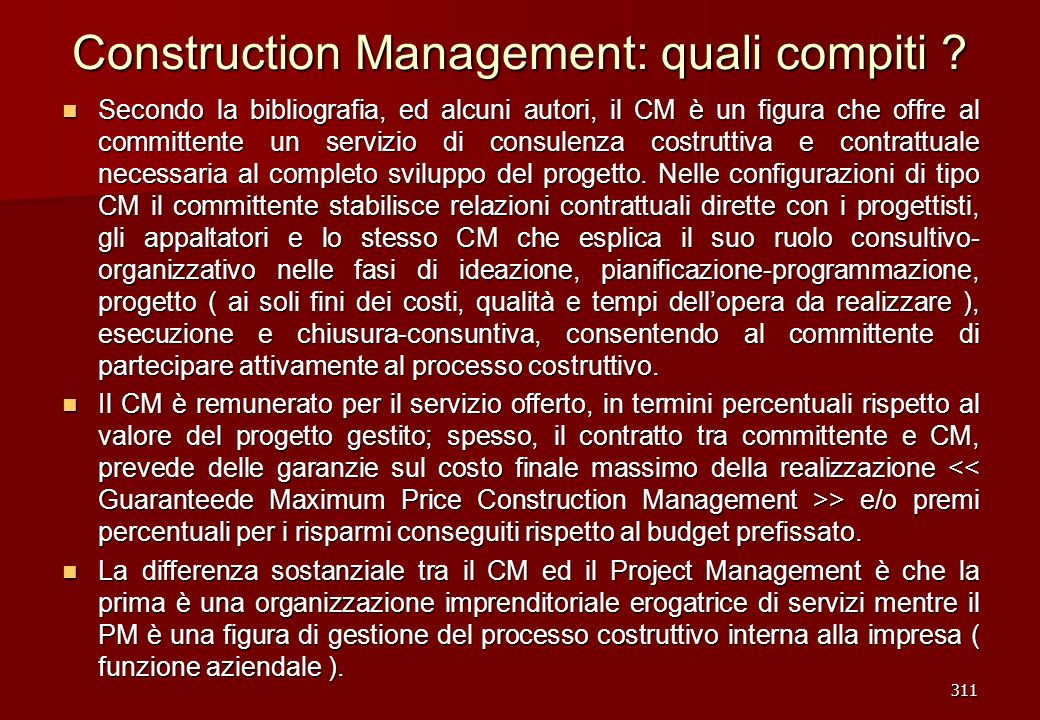 Construction Management: quali compiti