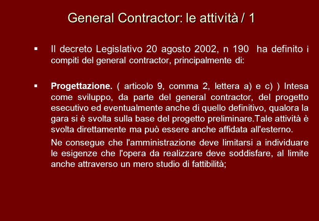 General Contractor: le attività / 1