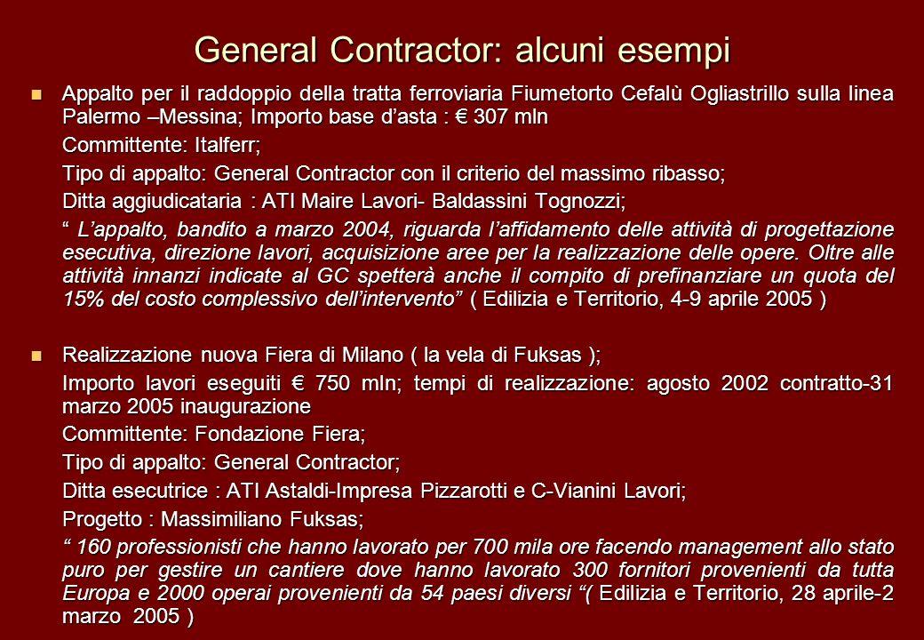 General Contractor: alcuni esempi