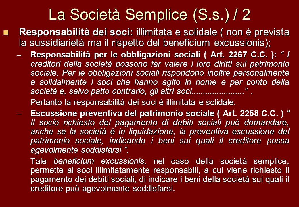 La Società Semplice (S.s.) / 2