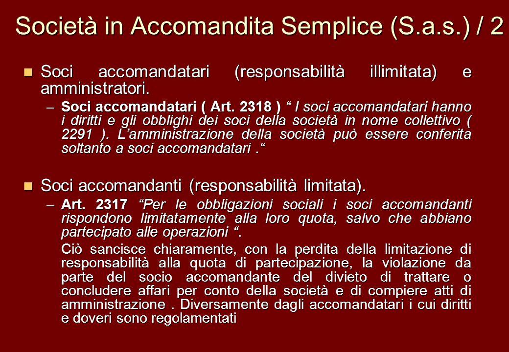 Società in Accomandita Semplice (S.a.s.) / 2