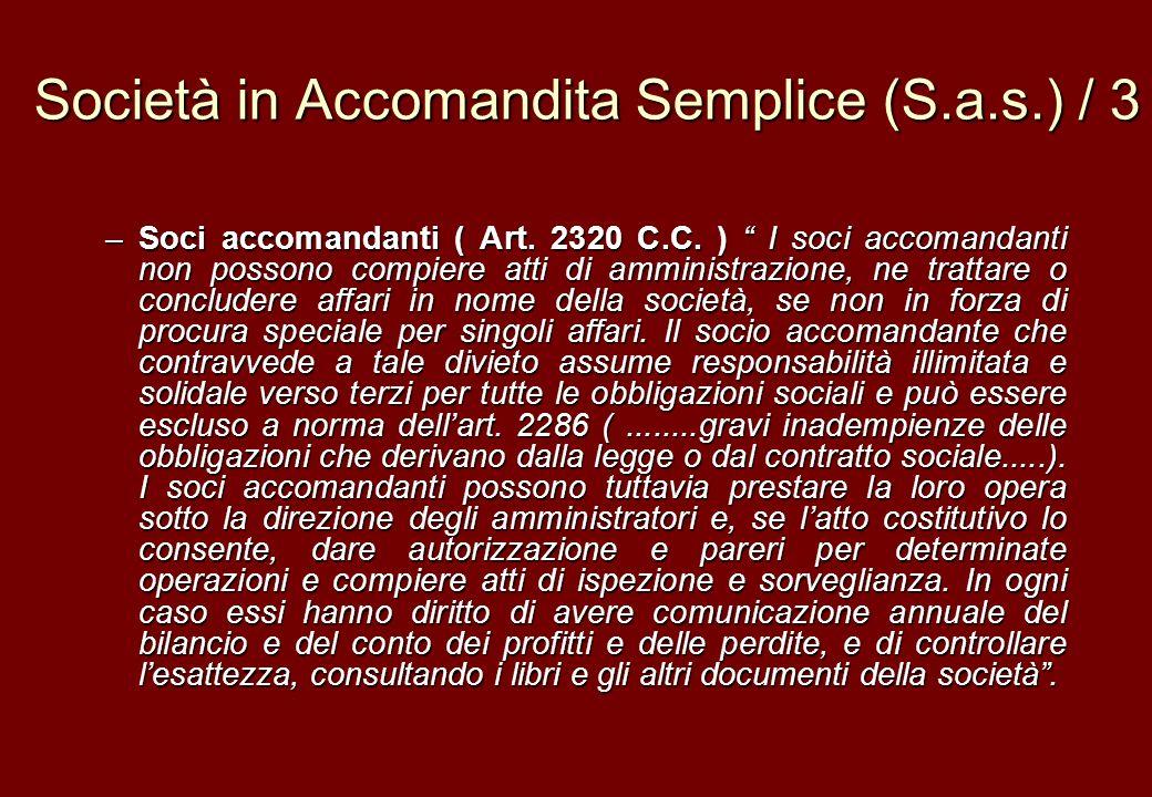 Società in Accomandita Semplice (S.a.s.) / 3