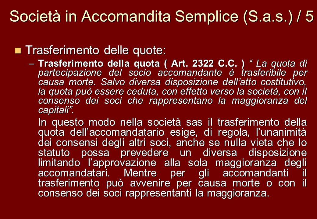 Società in Accomandita Semplice (S.a.s.) / 5
