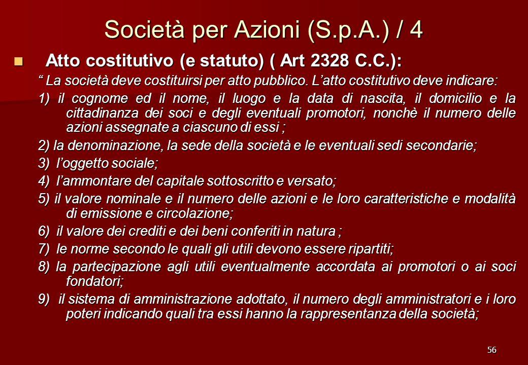Società per Azioni (S.p.A.) / 4