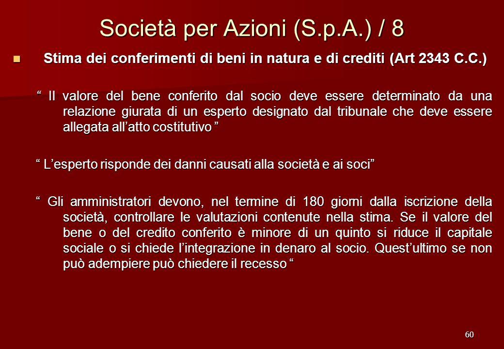 Società per Azioni (S.p.A.) / 8