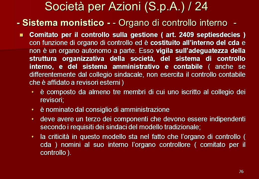 Società per Azioni (S. p. A