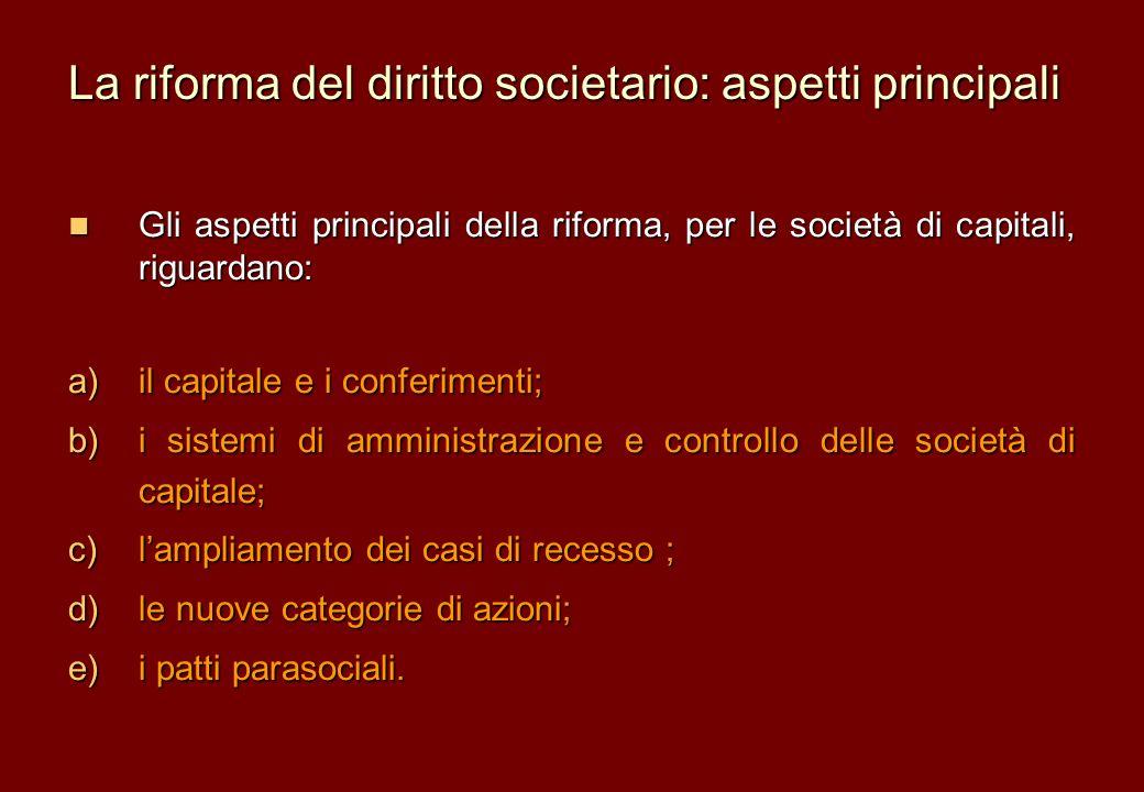 La riforma del diritto societario: aspetti principali