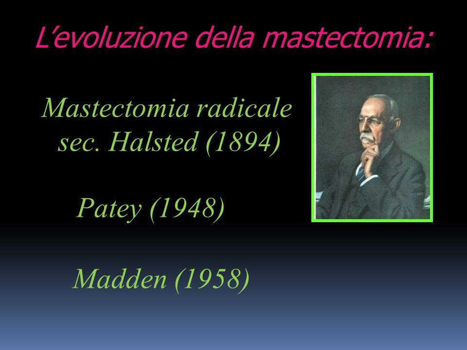L'evoluzione della mastectomia: