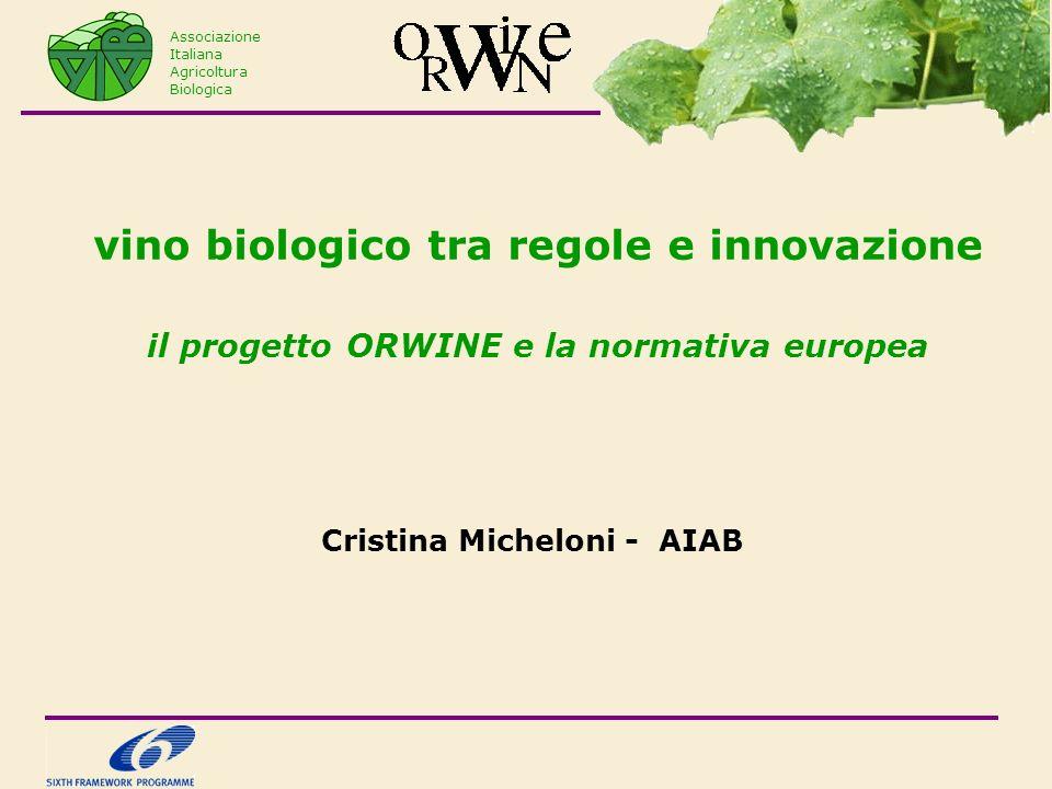 vino biologico tra regole e innovazione