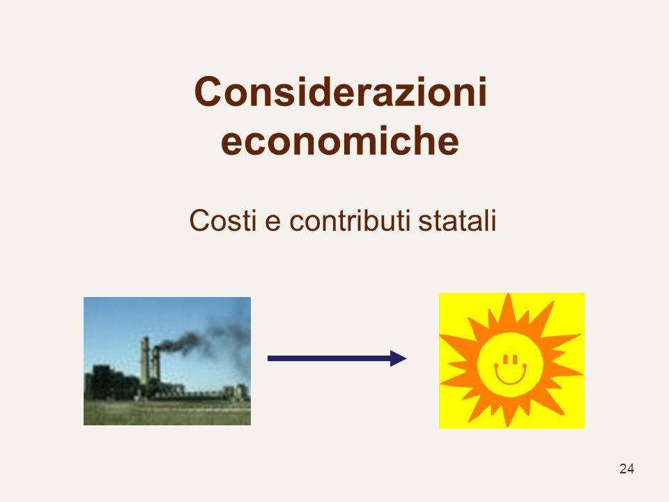 Considerazioni economiche