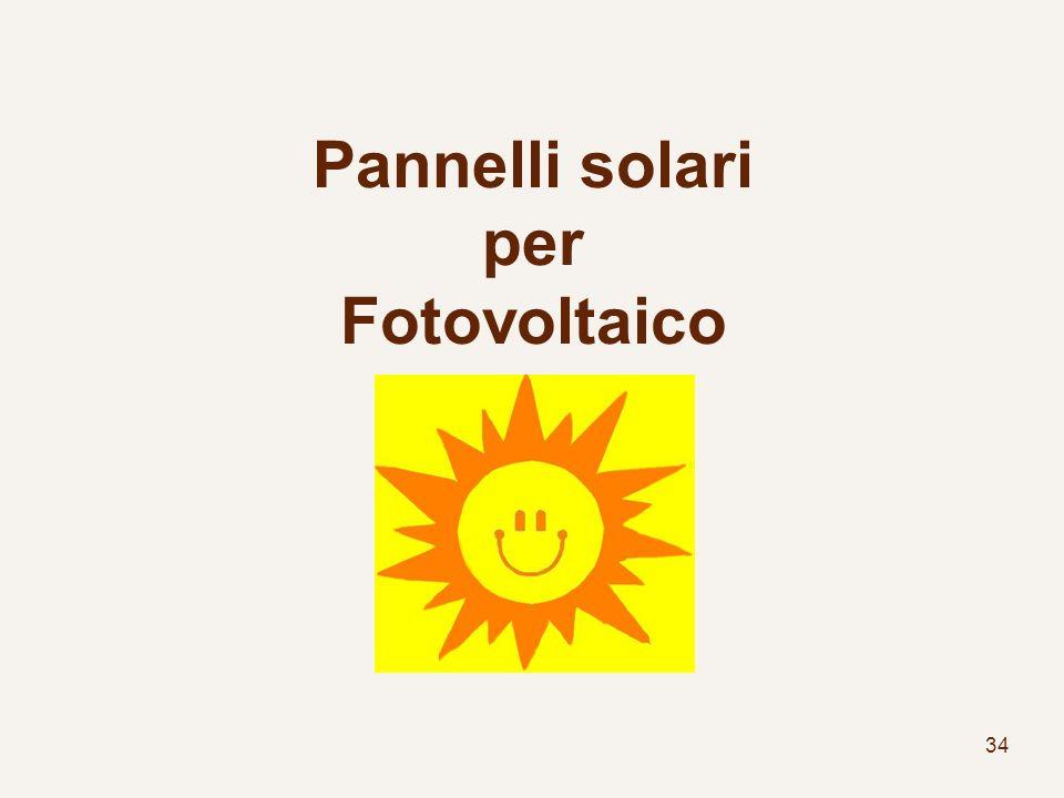 Pannelli solari per Fotovoltaico