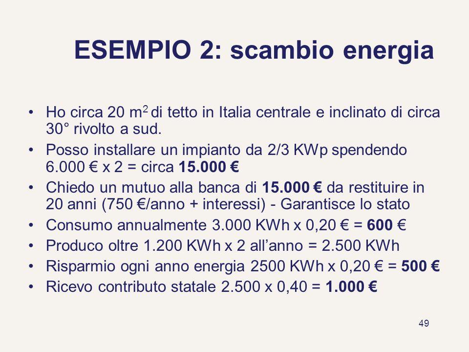 ESEMPIO 2: scambio energia