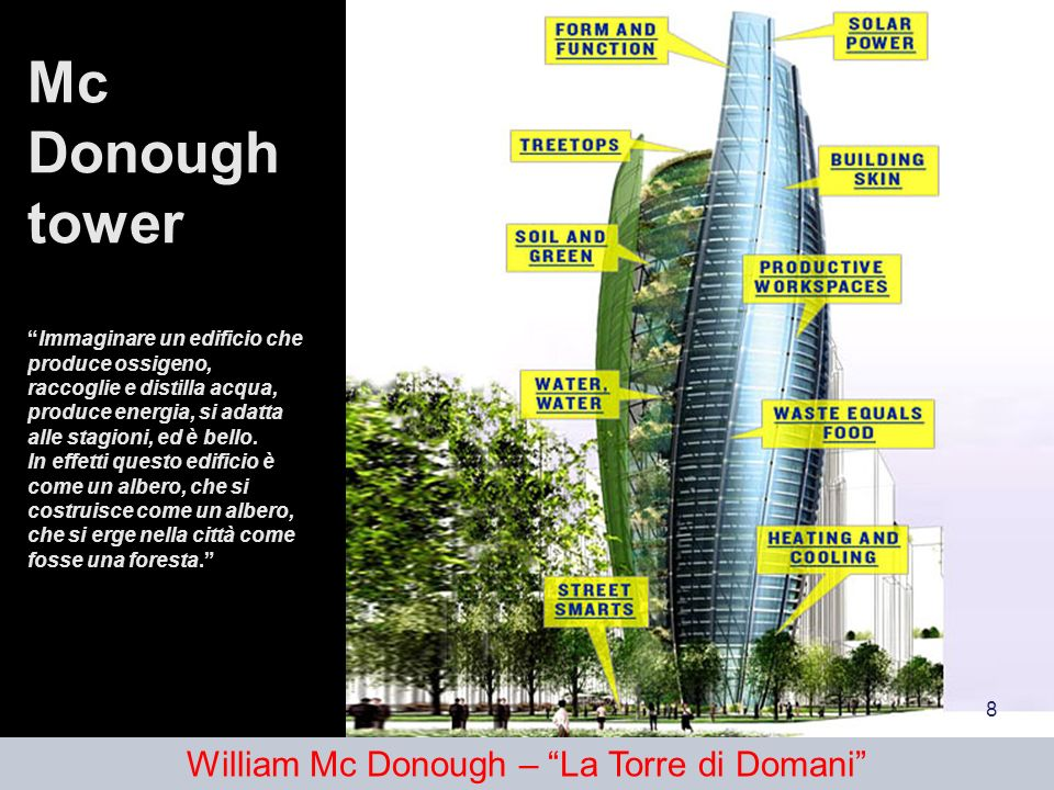 William Mc Donough – La Torre di Domani