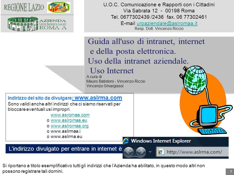 Guida all uso di intranet, internet e della posta elettronica.