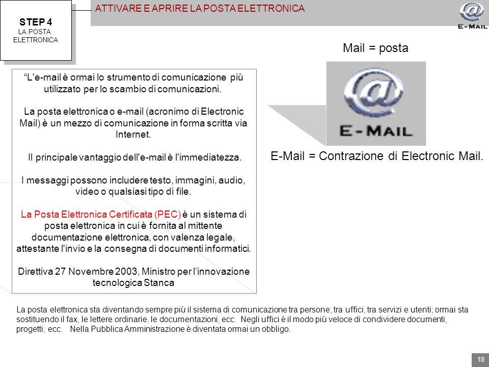 Il principale vantaggio dell e-mail è l immediatezza.
