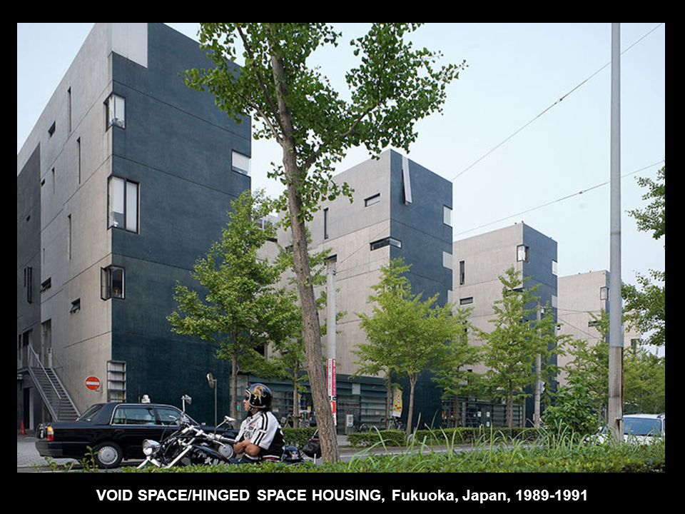 VOID SPACE/HINGED SPACE HOUSING, Fukuoka, Japan, 1989-1991