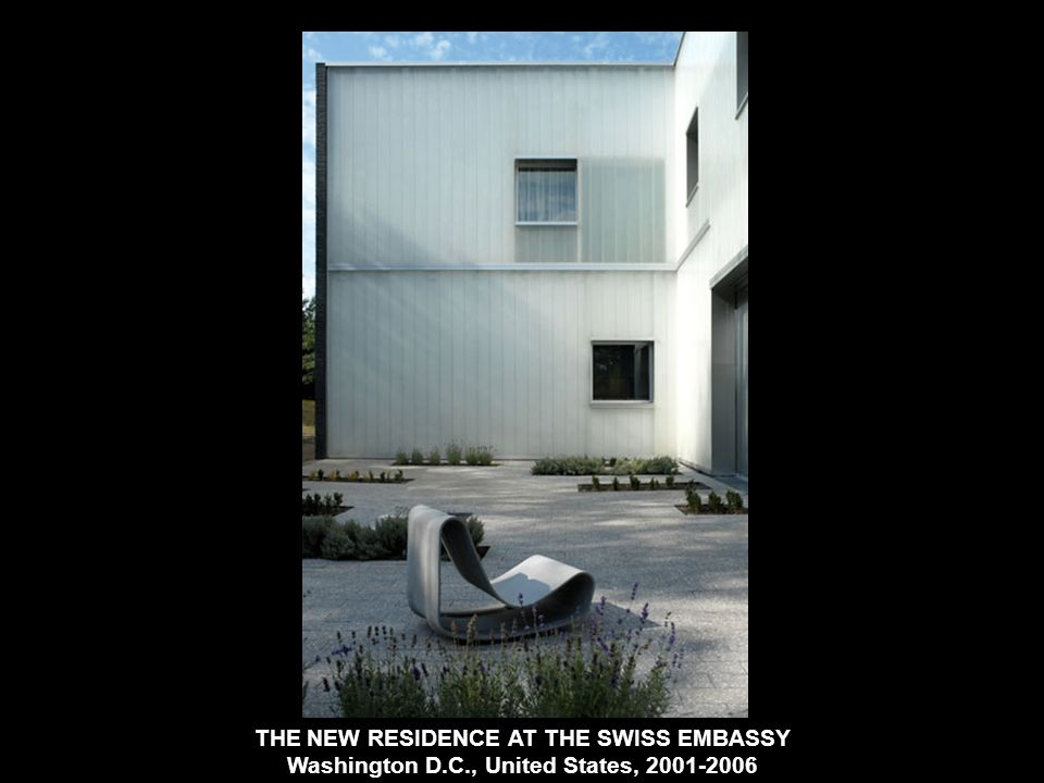 THE NEW RESIDENCE AT THE SWISS EMBASSY Washington D. C