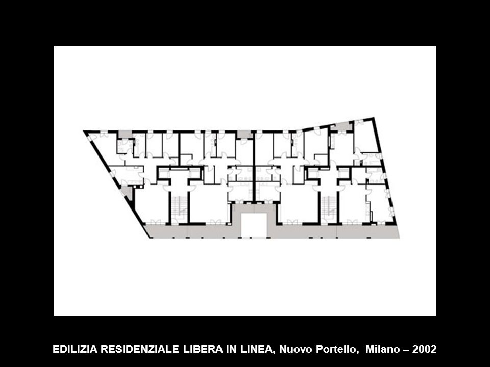 EDILIZIA RESIDENZIALE LIBERA IN LINEA, Nuovo Portello, Milano – 2002