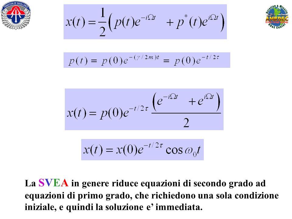 La SVEA in genere riduce equazioni di secondo grado ad equazioni di primo grado, che richiedono una sola condizione