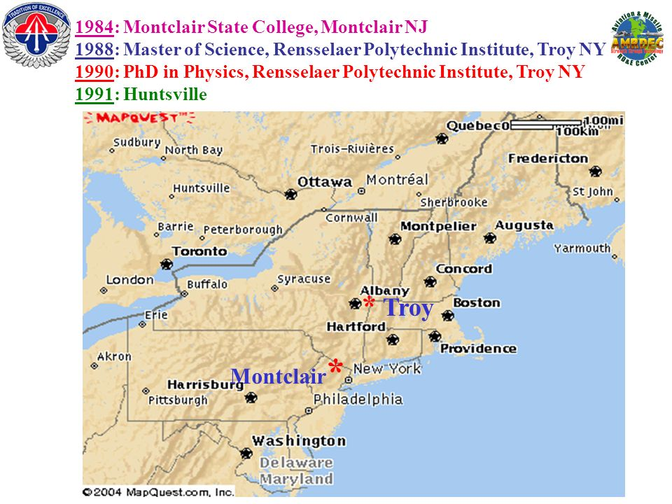 * Troy Montclair* 1984: Montclair State College, Montclair NJ