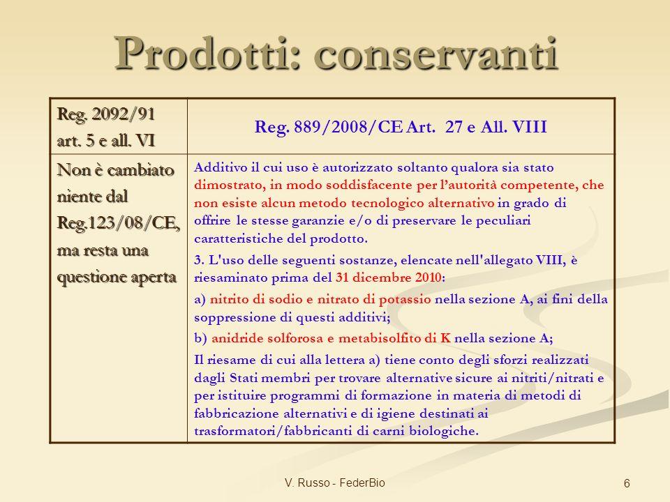Prodotti: conservanti