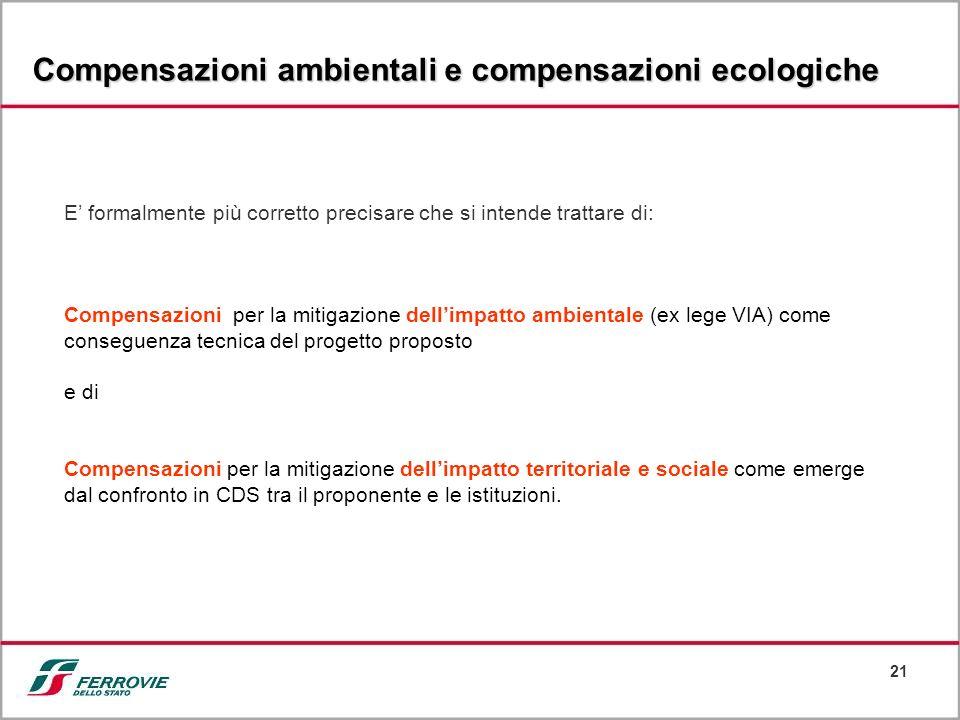 Compensazioni ambientali e compensazioni ecologiche