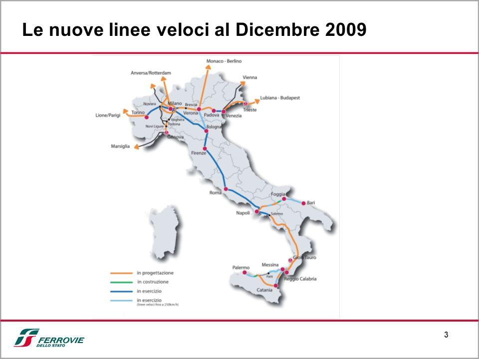 Le nuove linee veloci al Dicembre 2009