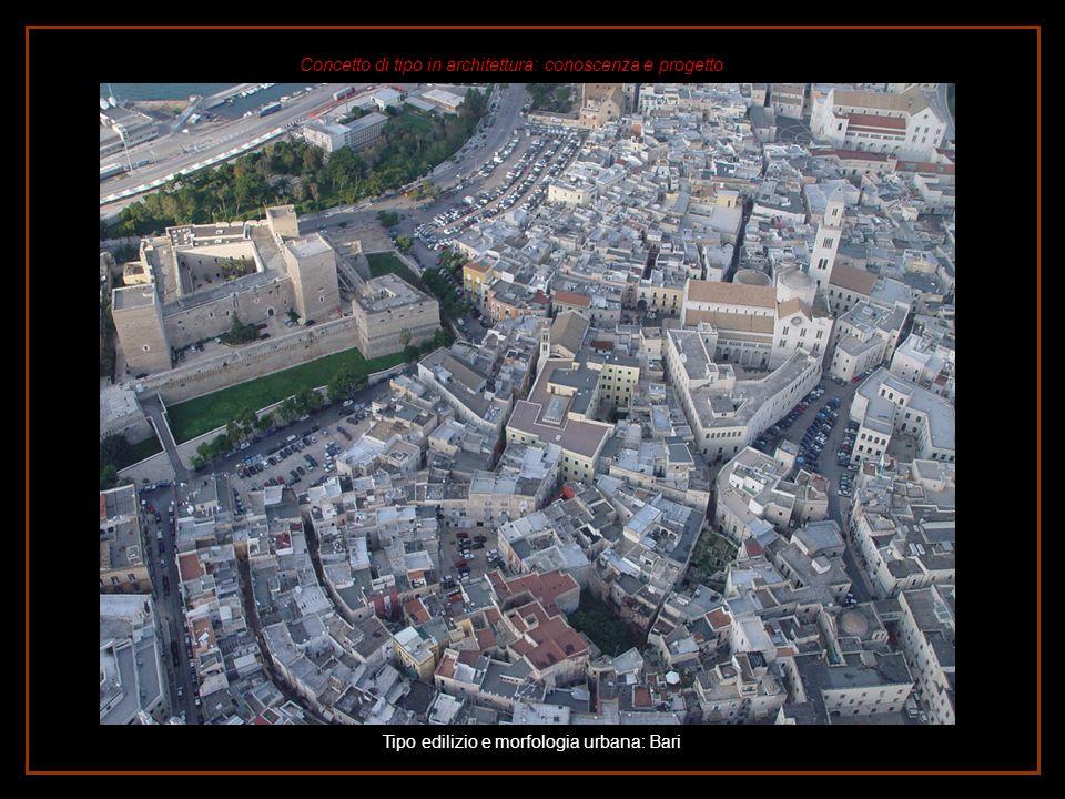 Tipo edilizio e morfologia urbana: Bari