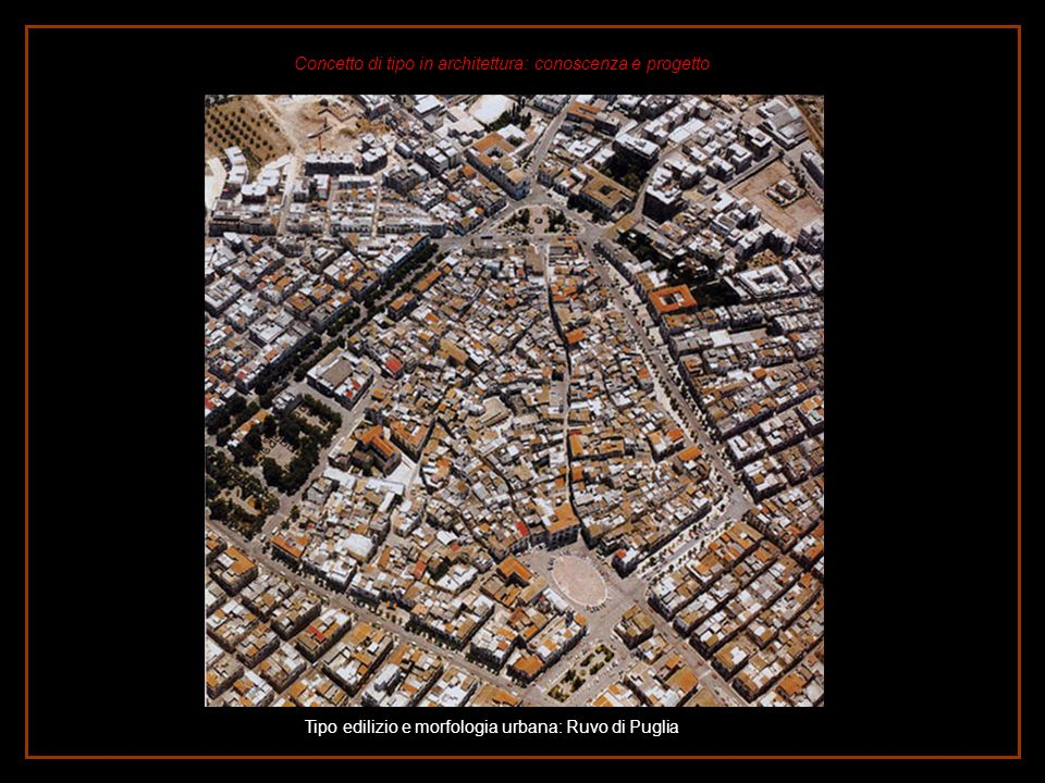 Tipo edilizio e morfologia urbana: Ruvo di Puglia