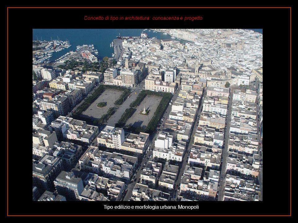 Tipo edilizio e morfologia urbana: Monopoli