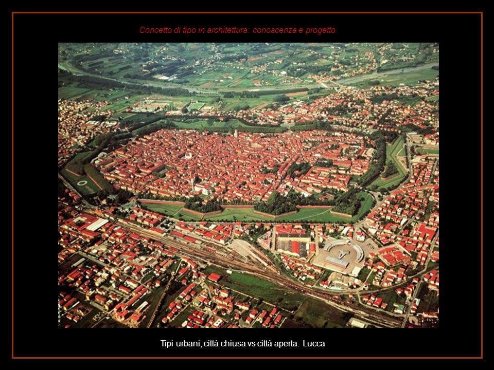 Tipi urbani, città chiusa vs città aperta: Lucca