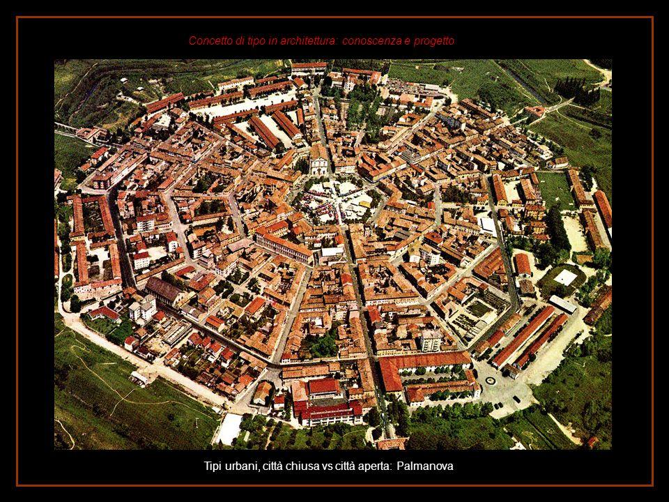 Tipi urbani, città chiusa vs città aperta: Palmanova
