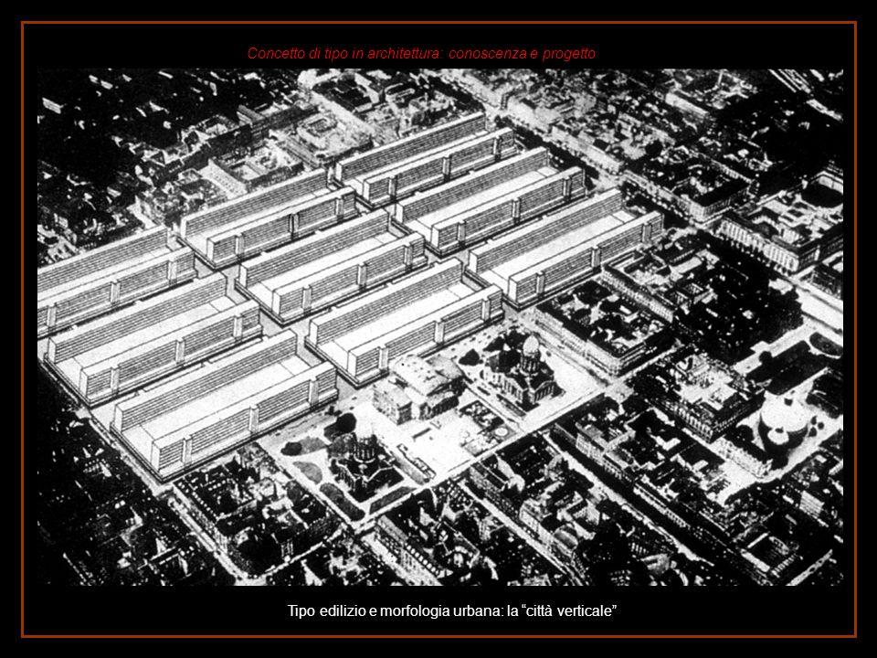 Tipo edilizio e morfologia urbana: la città verticale