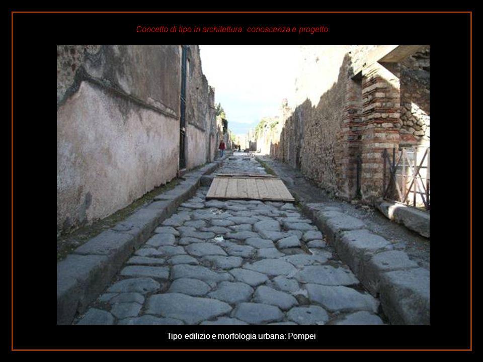 Tipo edilizio e morfologia urbana: Pompei