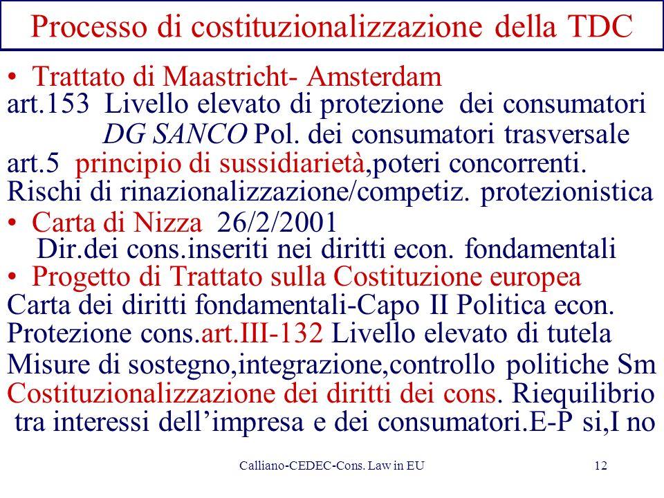 Processo di costituzionalizzazione della TDC