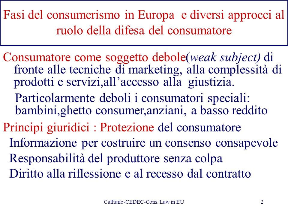 Calliano-CEDEC-Cons. Law in EU