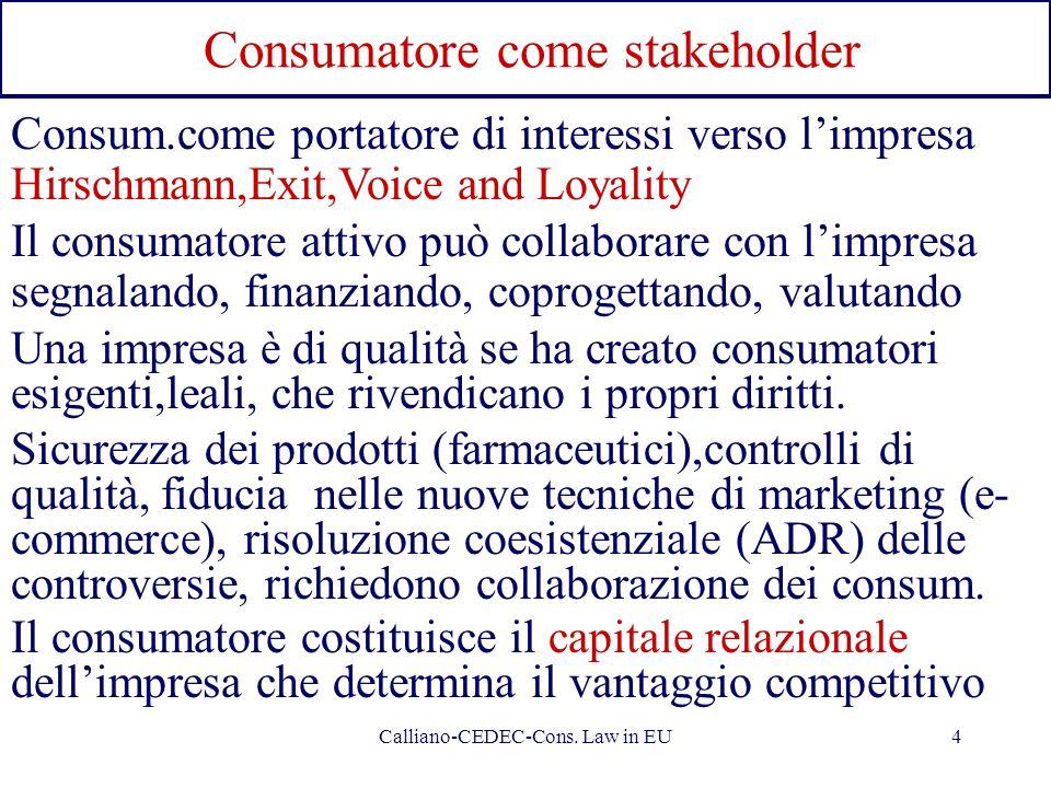 Consumatore come stakeholder