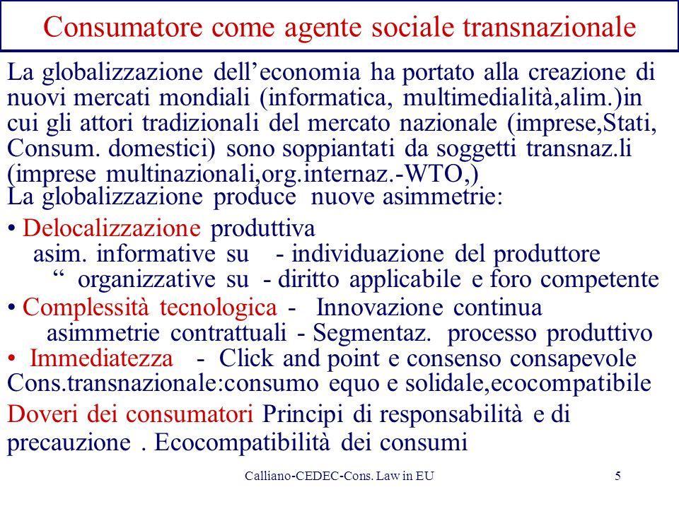 Consumatore come agente sociale transnazionale