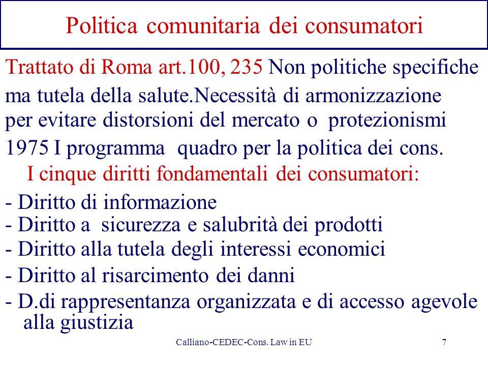 Politica comunitaria dei consumatori