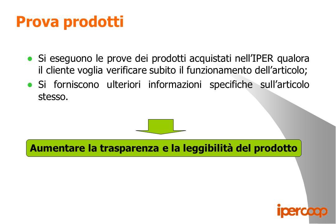 Aumentare la trasparenza e la leggibilità del prodotto