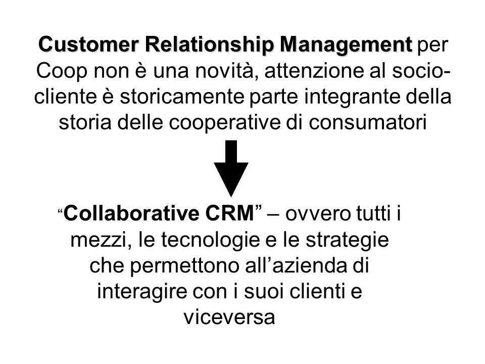 Customer Relationship Management per Coop non è una novità, attenzione al socio-cliente è storicamente parte integrante della storia delle cooperative di consumatori