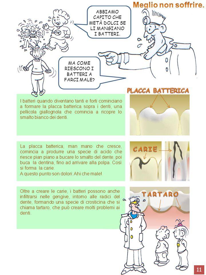 Meglio non soffrire. PLACCA BATTERICA CARIE TARTARO 11