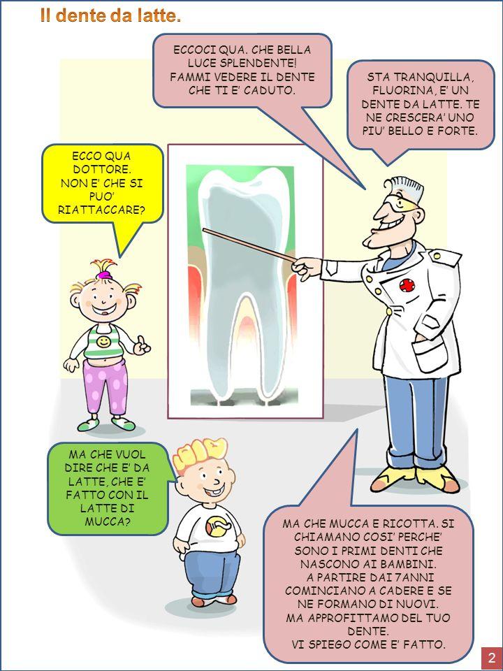 Il dente da latte. 2 ECCOCI QUA. CHE BELLA LUCE SPLENDENTE!