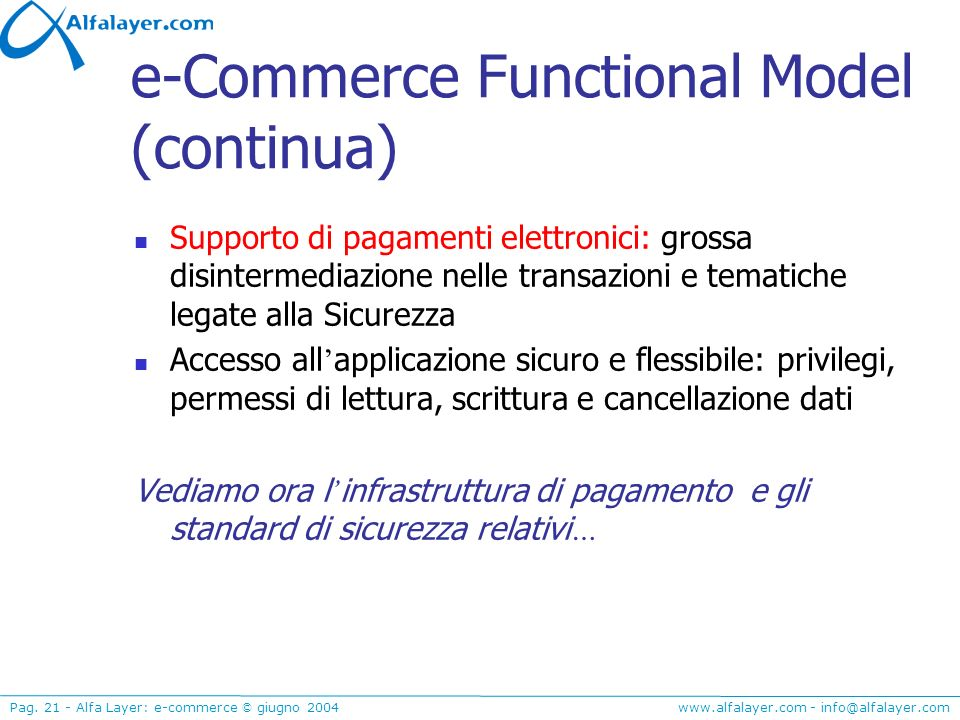 e-Commerce Functional Model (continua)