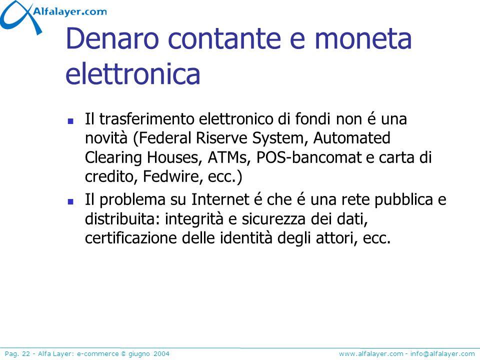 Denaro contante e moneta elettronica