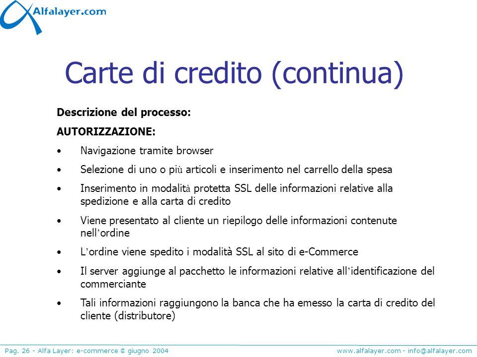 Carte di credito (continua)